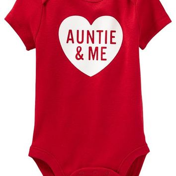 Old Navy Graphic Bodysuits For Baby Size 3-6 M - Robbie red