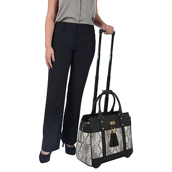 """THE CORONADO"" Rolling iPad Tablet or Laptop Tote Briefcase or Carryall Bag"