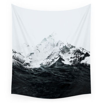 Society6 Those Waves Were Like Mountains Wall Tapestry