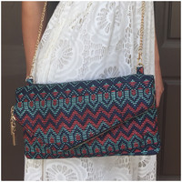 Rattle in The Desert Clutch Handbag