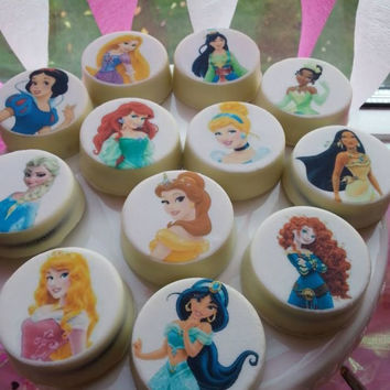 Disney Princesses White Chocolate Covered Oreos