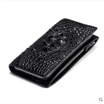yuanyu crocodile skin men clutch bag Thai crocodile leather men wallet large zip  wallet genuine crocodile leather clutch bag