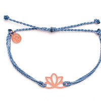 Rose Gold Lotus Columbia Blue