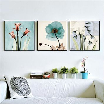 Modern Watercolor Orchid Flower A4 Poster Print Floral Living Room Wall Art Picture Nordic Home Decor Canvas Painting No Frame