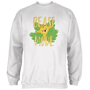 Beast Mode Cute Cheetah Cub Mens Sweatshirt