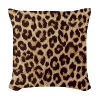 Leopard Pattern Fabric Woven Throw Pillow