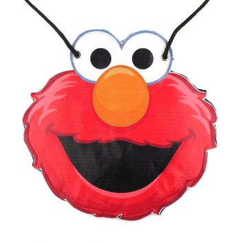 Sesame Street Elmo Muppet Shaped Vinyl Print Cross Body Bag | DOTOLY
