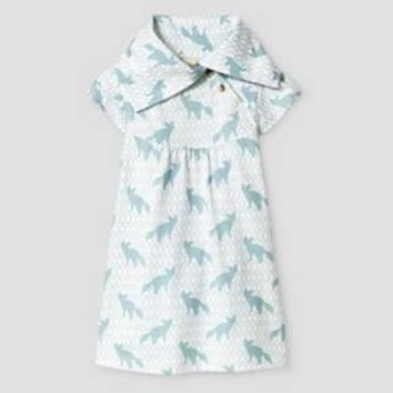 Kate Quinn Organics Baby Flutter Sleeve Play Dress - Blue