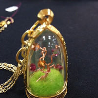 Hand Wrought Tree Locket Necklace