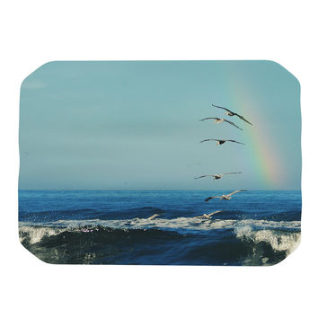 "Robin Dickinson ""I'll Follow"" Blue Coastal Place Mat"