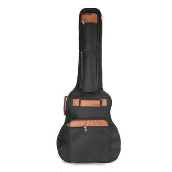 """1Pcs Black Oxford Cloth 8MM Thick Guitar Bag with Double Cotton Straps For 41"""" Folk Guitar Parts & Accessories"""