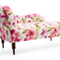 Reilly Floral Chaise, Raspberry/Multi