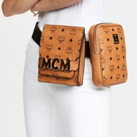 MCM Stark Modular Belt Bag in Visetos