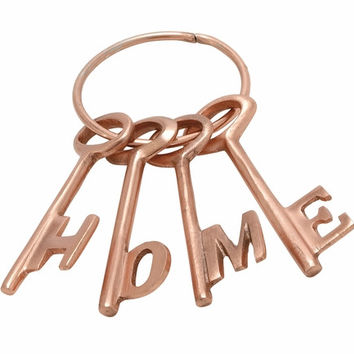 "Matchless Aluminum Copper Home Key Set Of 4 4""W 7""H"