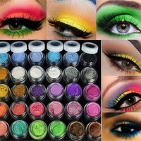 30 Mixed Colors  Glitter Shimmer Eyeshadow Makeup Full Size