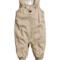 Jersey-lined Bib Overalls - from H&M
