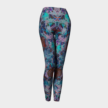 Sea Side Day Dream, Compression fit performance Leggings, XS,S,M,L,XL, Hot Yoga Pants, Activewear, Yoga Leggins Made in Canada
