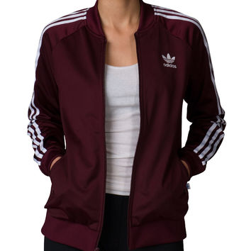 adidas Supergirl Track Jacket (Burgundy) - AY8941-610 | Jimmy Jazz