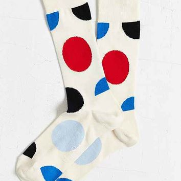Happy Socks Jumbo Dot Sock- White One