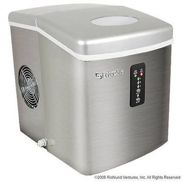 Portable Stainless Steel Ice Maker Stainless Steel Portable Fun RV, Boat Friends