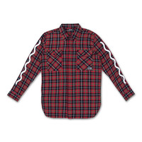 L/S Flag Flannel in Red – Pink+Dolphin