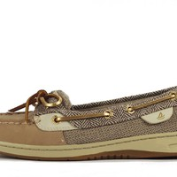 Sperry Topsider for Women: Angelfish Linen Heringbone Boat Shoe
