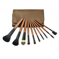 10Pcs Makeup Brush Sets Hot Sale Brown Brush [9647070287]