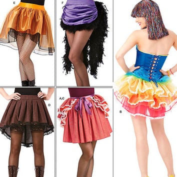 Bustle Skirt, Saloon Skirt, Tutu Skirt, New Simplicity 1346, Paper Pattern, Rainbow Skirt, Penny Dreadful, Steampunk Skirt, Plus Size