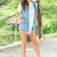 Head Turner Vest, Chambray