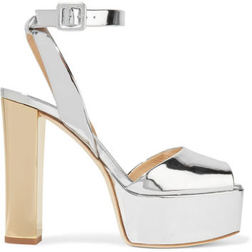 Giuseppe Zanotti - Mirrored-leather platform sandals