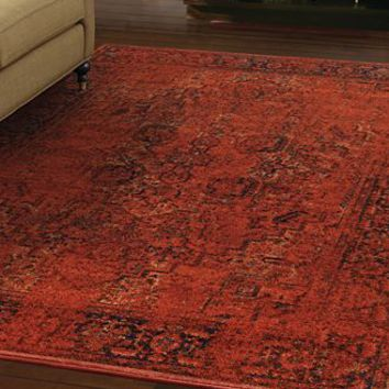 "Kenneth Mink Spectrum Mod Heriz Rust 7'10"" x 10'10"" Area Rug"