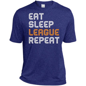 LOL Eat Sleep League Repeat gaming T shirt 2016-01  TST360 Sport-Tek Tall Heather Dri-Fit Moisture-Wicking T-Shirt