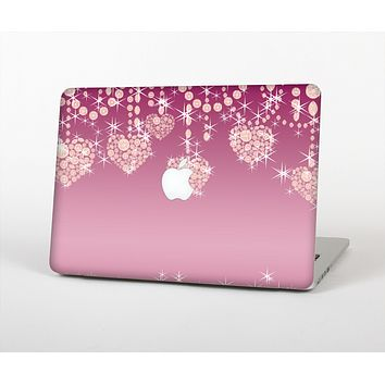 The Pink Sparkly Chandelier Hearts Skin Set for the Apple MacBook Pro 13""