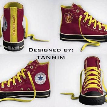 VONR3I Custom Harry Potter: House Gryffindor Converse Chucks
