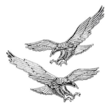 DCK9M2 High quality 1pair of 3D ABS Eagle Stickers Car Stickers Personalized Car Body Modification Flag Stickers Car Styling