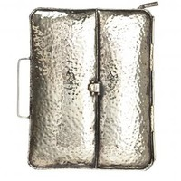 Hammered Metal Clutch / iPad Case by Anndra Neen