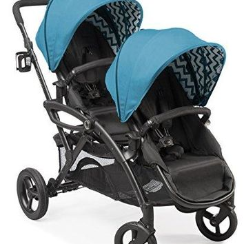 7 Seating Option Double Stroller For Twins Car Seat Attached Enabled For 2 Multi View Seats