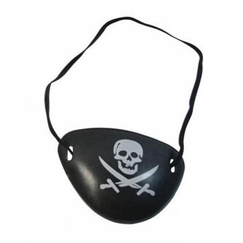 Adult Funny Gag Toys Pirate Eye Patch Holloween Masquerade Plastic Skull Crossbone Halloween Birthday Party Costume Kids Toy