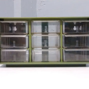 Parts Bin, Green, Cabinet, Storage, Akro-Mils, Model 10-109, Table Top or Wall Mount
