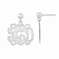 Polished Monogram Dangle Earrings