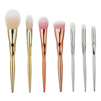 7pcs Milticolor Makeup Brushes Cosmetic Powder Blush Contour Foundation Eyeshadow Make-up Brush Set