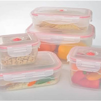 11-pcs Vacuum Food Storage Containers, Rectangular