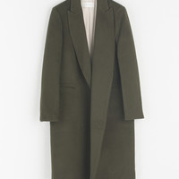 Simple Wool Coat, Khaki