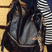 Tassels Sequined Leopard Handbag Shoulder Bag  from styleonline