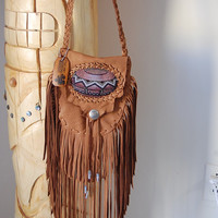 Pueblo Pottery Inspired Fringe Bag