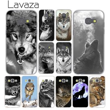 Lavaza Classic Cool Wolf Hipster Phone Cover Case for Samsung Galaxy A6 A8 Plus 2018 A5 A3 2017 2016 2015 Grand Prime Note 9 8