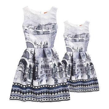 Summer Girls Dress Family Look Mommy and Me Clothes Mother Daughter Dresses Matching Outfits Mother and Daughter Clothes 1 piece