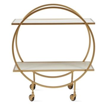 Russo Bar Cart | Paxton Dining Room Inspiration | Dining Room | Inspiration | Z Gallerie