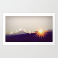 *** HERE COMES THE SUN  ***  Art Print by SUNLIGHT STUDIOS for your lovely apartment!