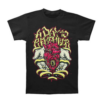 A Day To Remember Men's  Heart Hands T-shirt Black